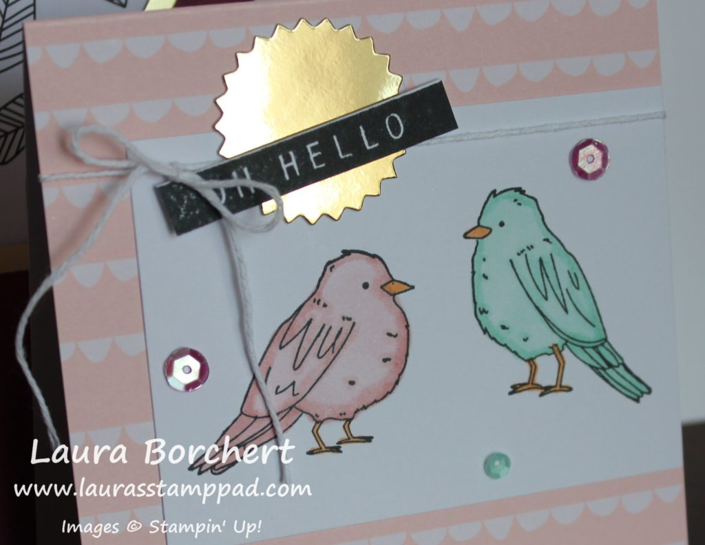 Colored in Birdies, www.LaurasStampPad.com