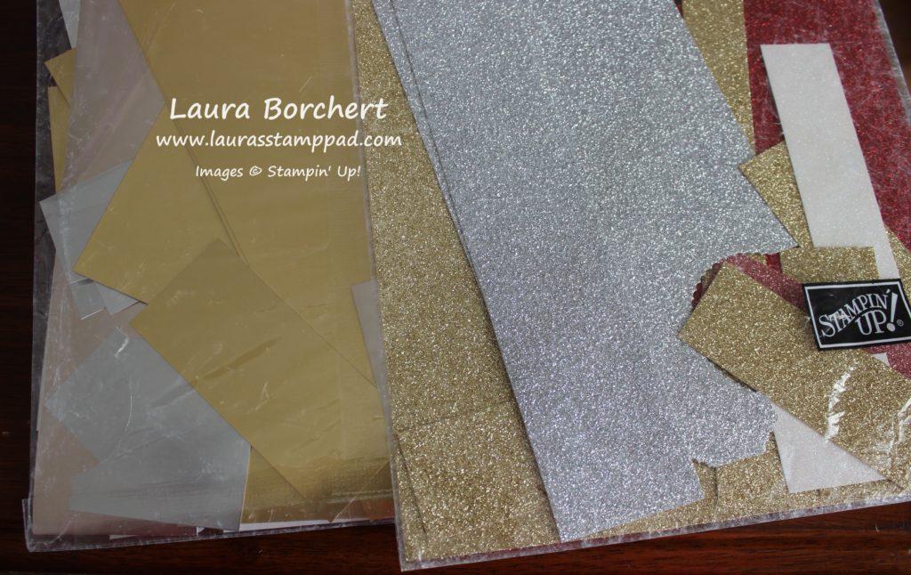 Glimmer & Foil Scraps, www.LaurasStampPad.com