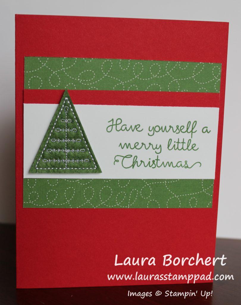 Merry Little Christmas Tree, www.LaurasStampPad.com