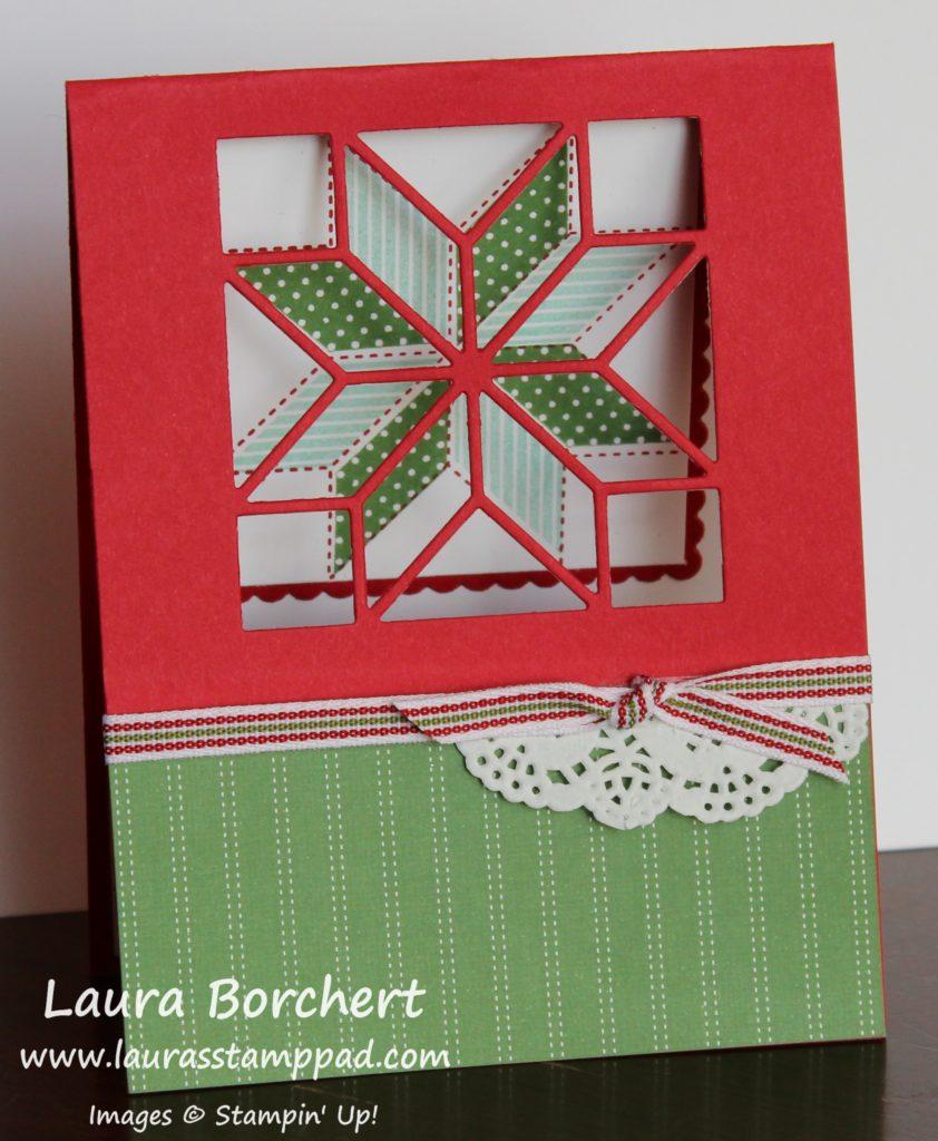 Christmas Quilt, www.LaurasStampPad.com
