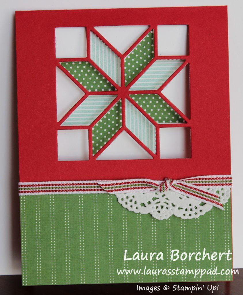 Peek Through Quilt Card, www.LaurasStampPad.com
