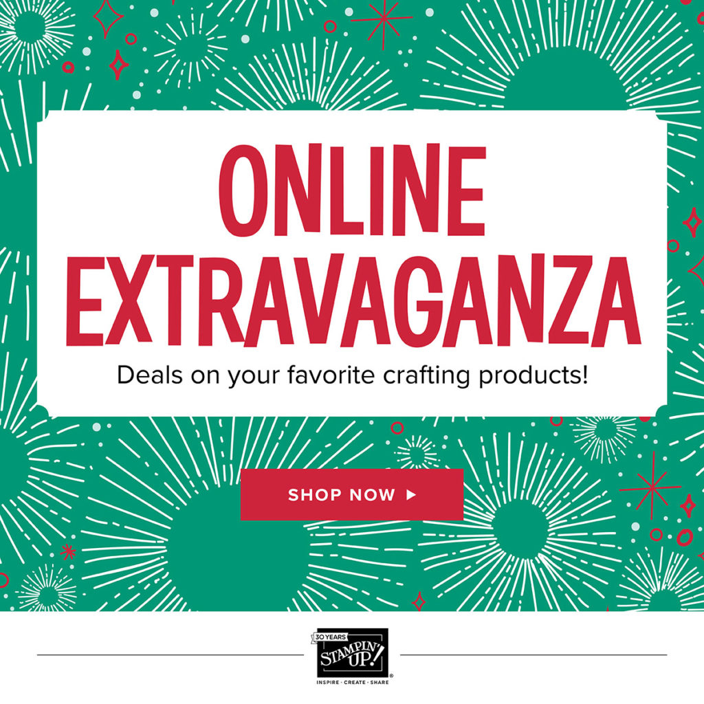 Stampin' Up Online Extravaganza, www.LaurasStampPad.com