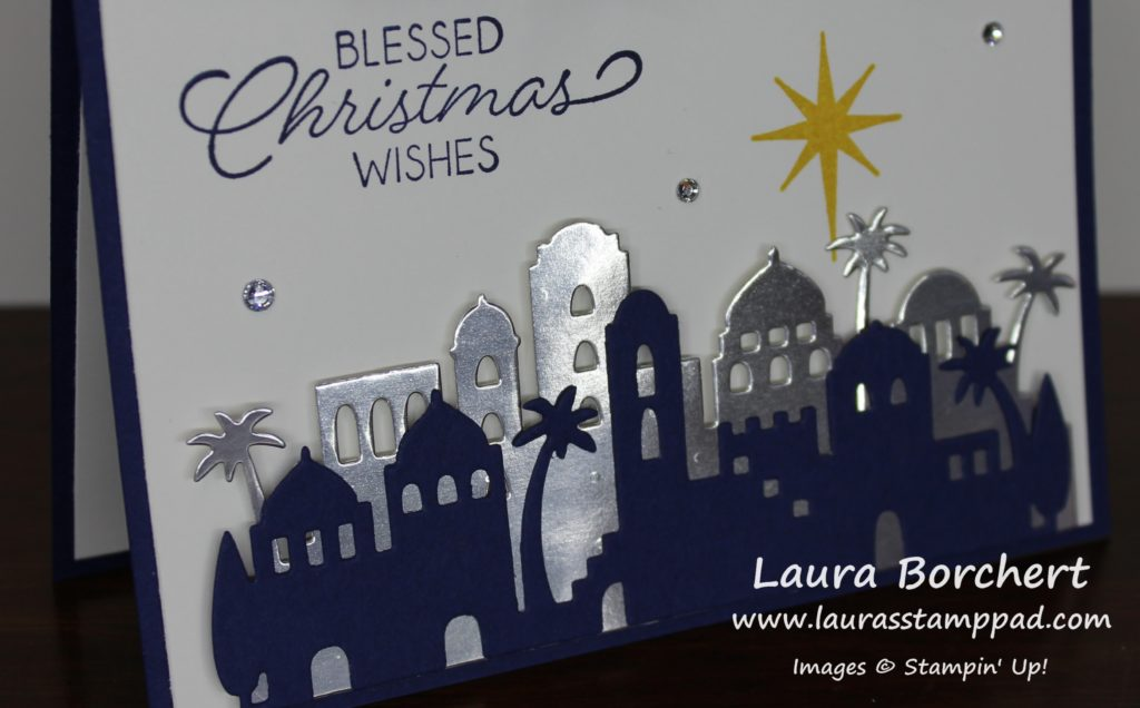 Blessed Christmas Wishes, www.LaurasStampPad.com