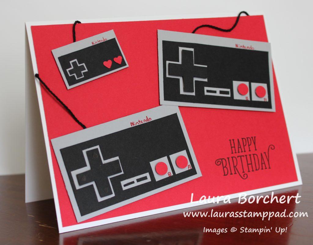 Brad's Nintendo Birthday Card, www.LaurasStampPad.com