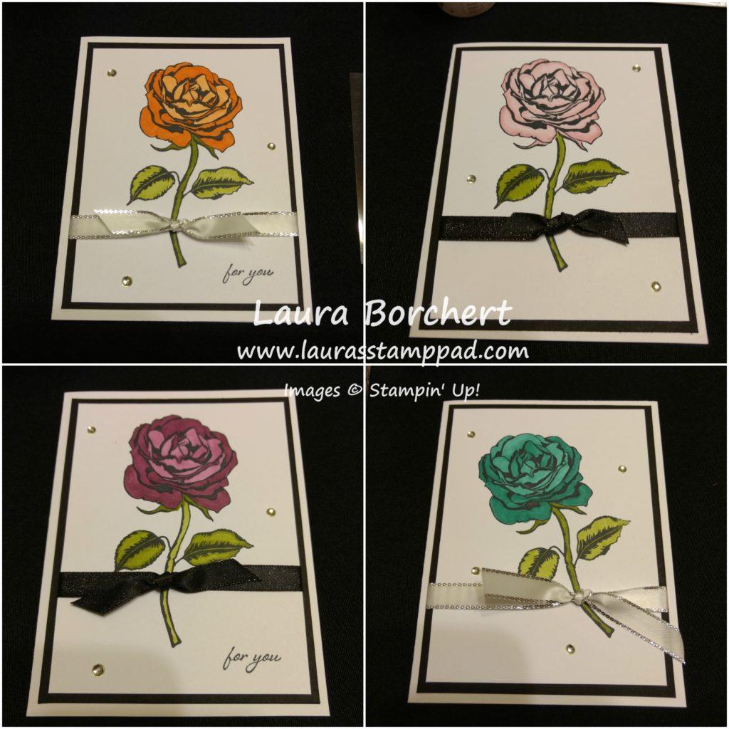 Blending Roses, www.LaurasStampPad.com