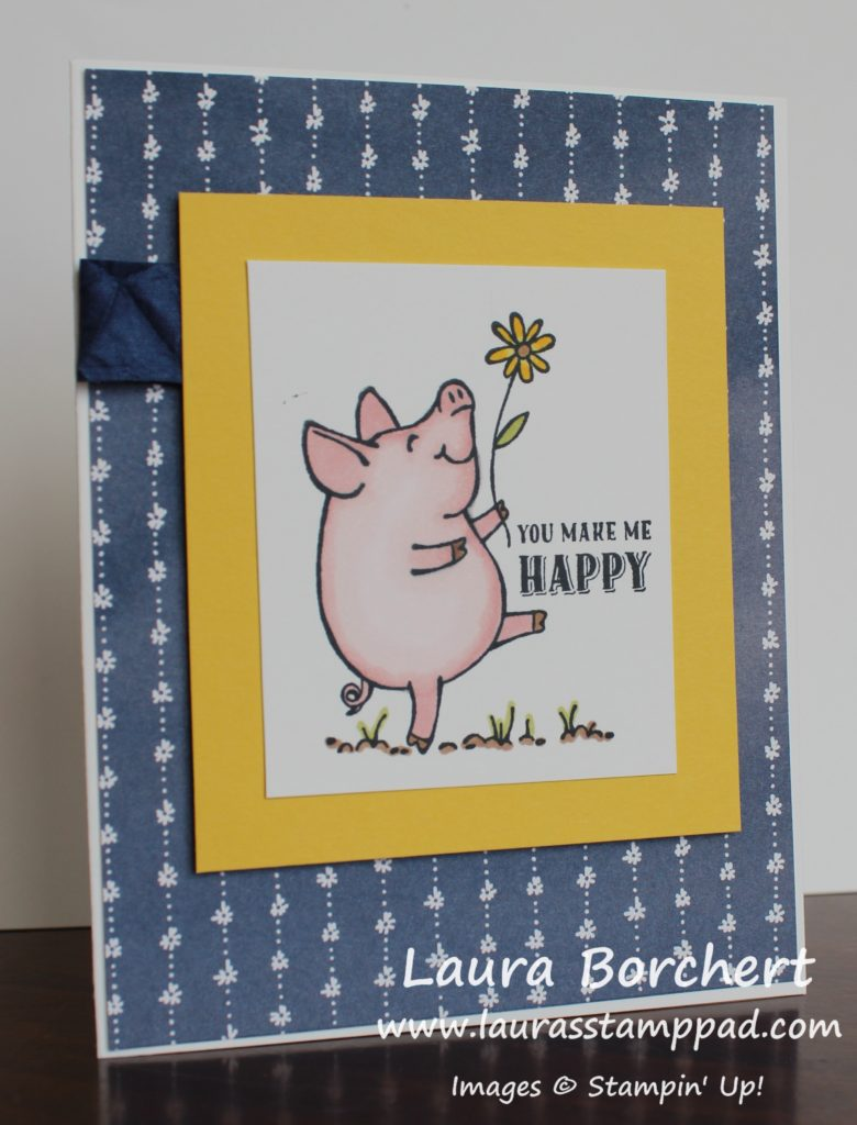 Happy Piggy, www.LaurasStampPad.com