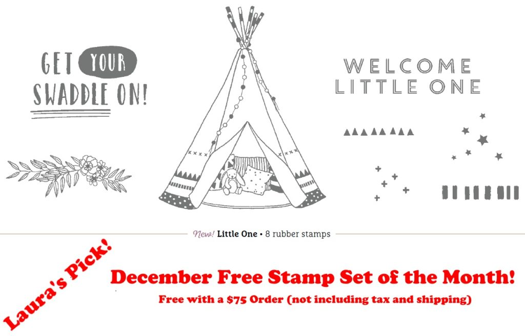 December Free Stamp Set of the Month, www.LaurasStampPad.com