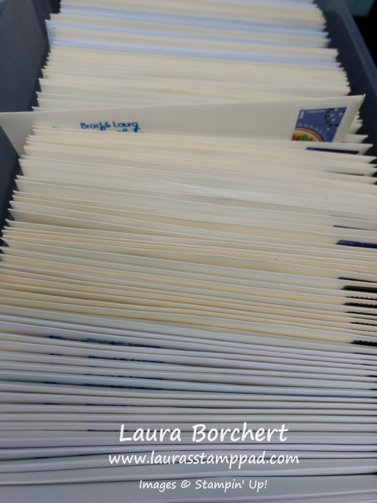 My Cards Are In The Mail, www.LaurasStampPad.com