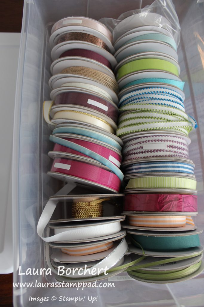 My Ribbon Storage, www.LaurasStampPad.com