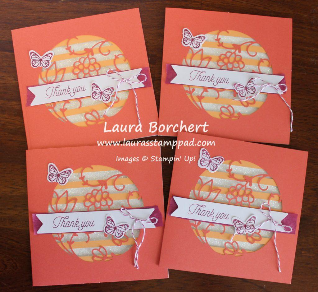 Square Cards, www.LaurasStampPad.com