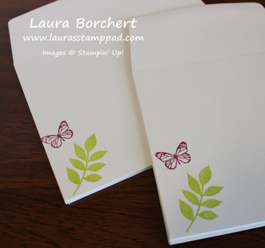 Stamped Envelopes, www.LaurasStampPad.com