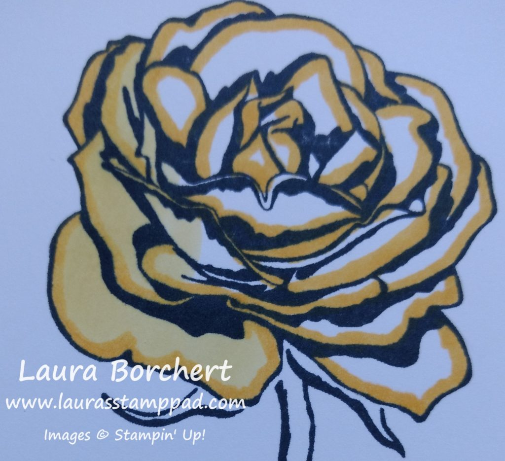 Yellow Rose, www.LaurasStampPad.com