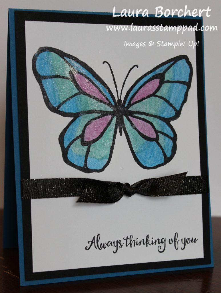 Blue Butterfly, www.LaurasStampPad.com