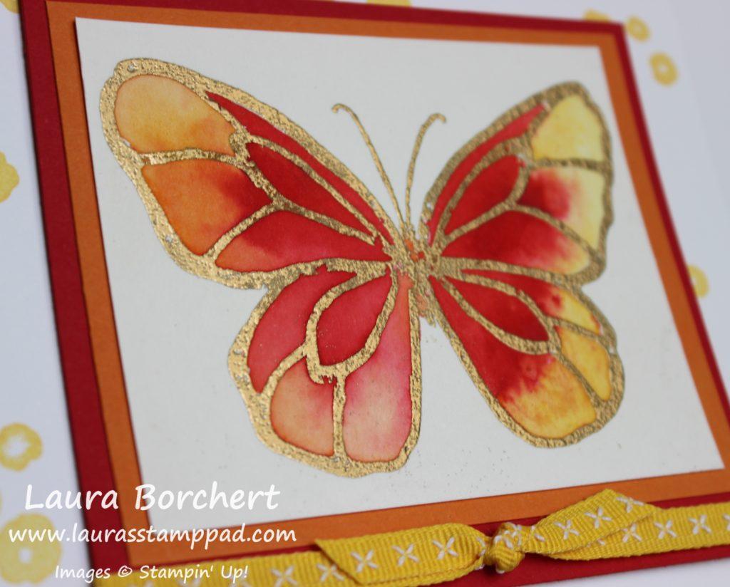 Golden Butterfly, www.LaurasStampPad.com