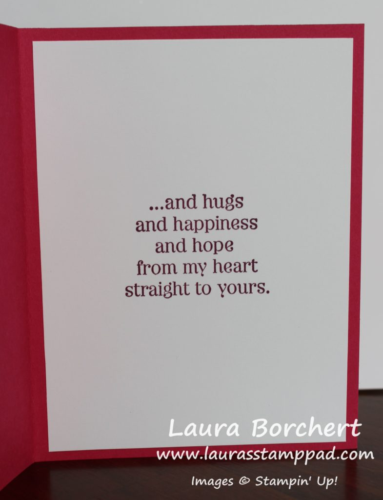 Hugs & Happiness, www.LaurasStampPad.com