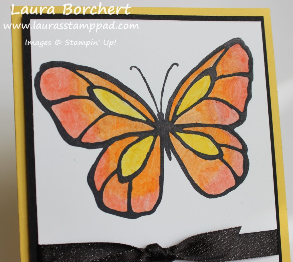 Tri Color Butterfly, www.LaurasStampPad.com