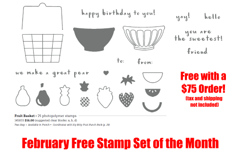 February Free Stamp Set, www.LaurasStampPad.com