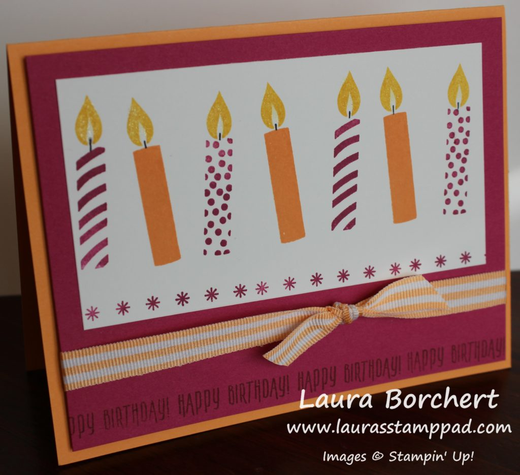 Stepped Up Candle Card, www.LaurasStampPad.com