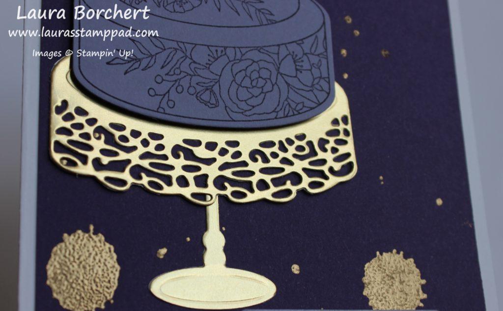 Golden Splatter, www.LaurasStampPad.com