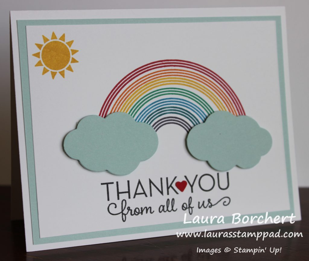 Beautiful Shining Rainbow, www.LaurasStampPad.com
