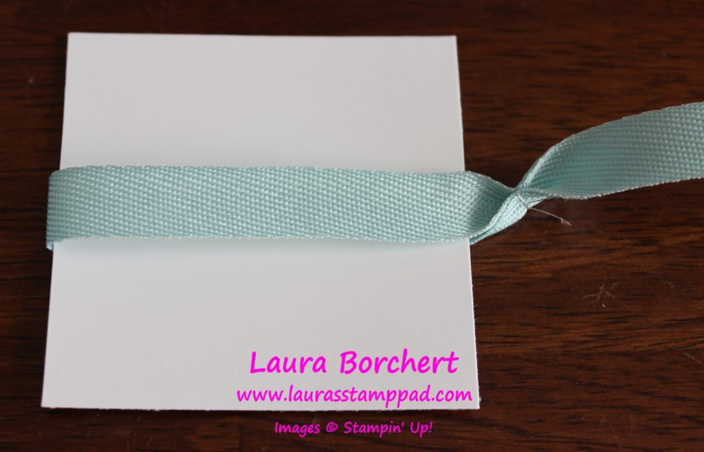 Side Ribbon, www.LaurasStampPad.com