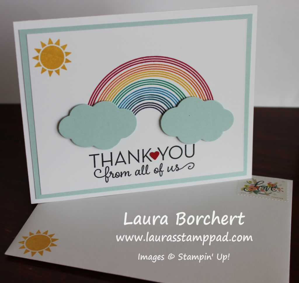 Thank You Note & Envelope, www.LaurasStampPad.com