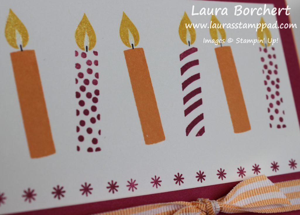 Sparkling Candles, www.LaurasStampPad.com
