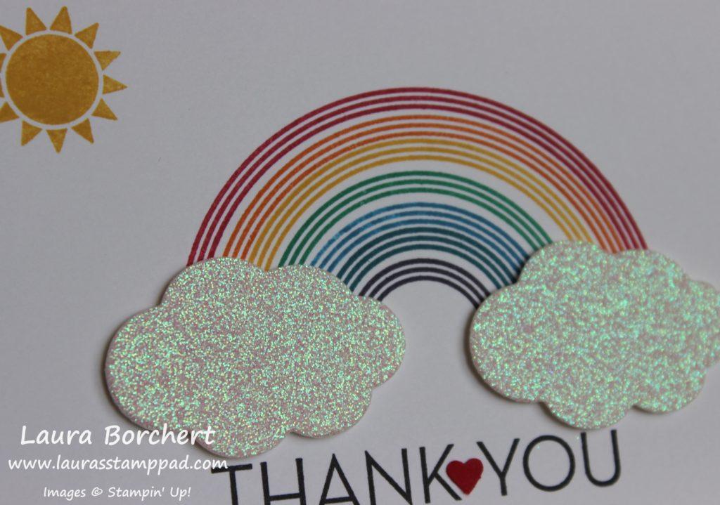 Rainbow Glimmer Clouds, www.LaurasStampPad.com