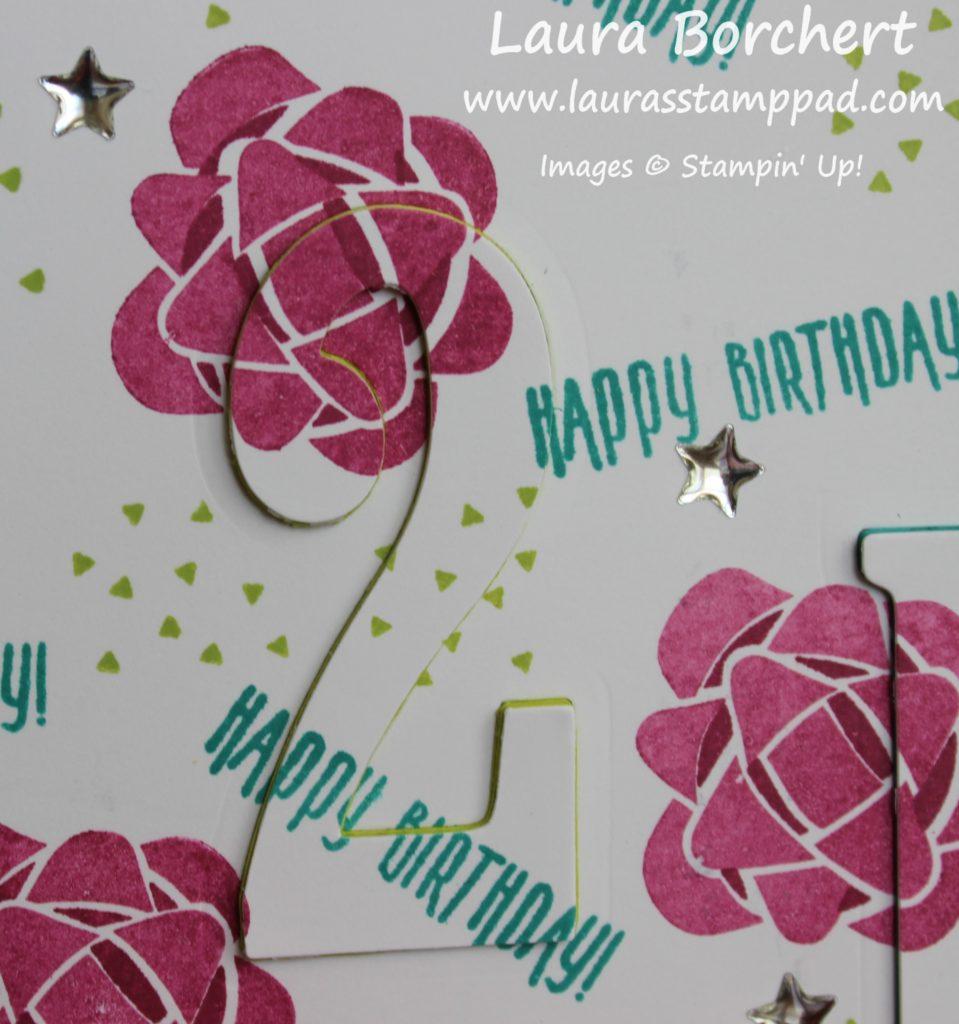 Large Number Framelits, www.LaurasStampPad.com