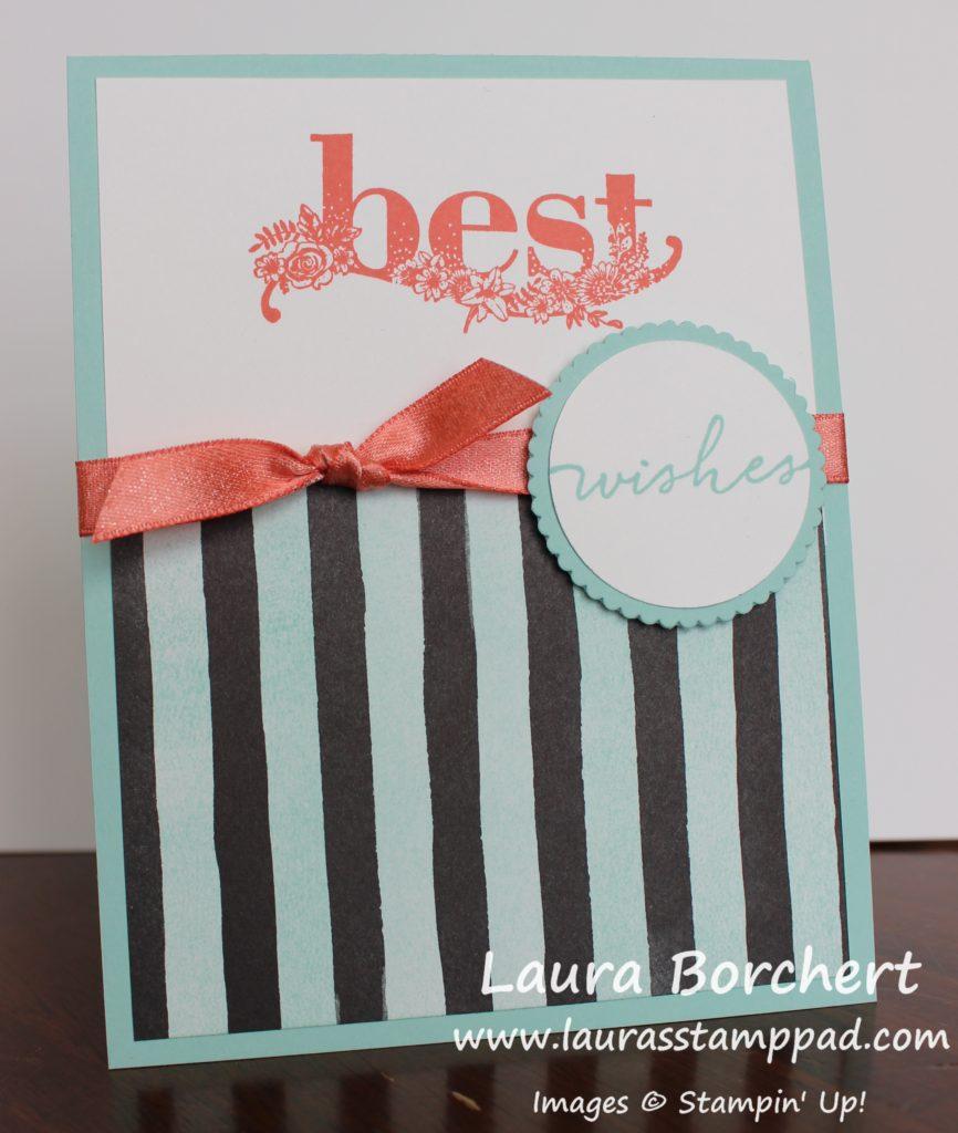 Sponging Over Petal Passion Designer Paper, www.LaurasStampPad.com