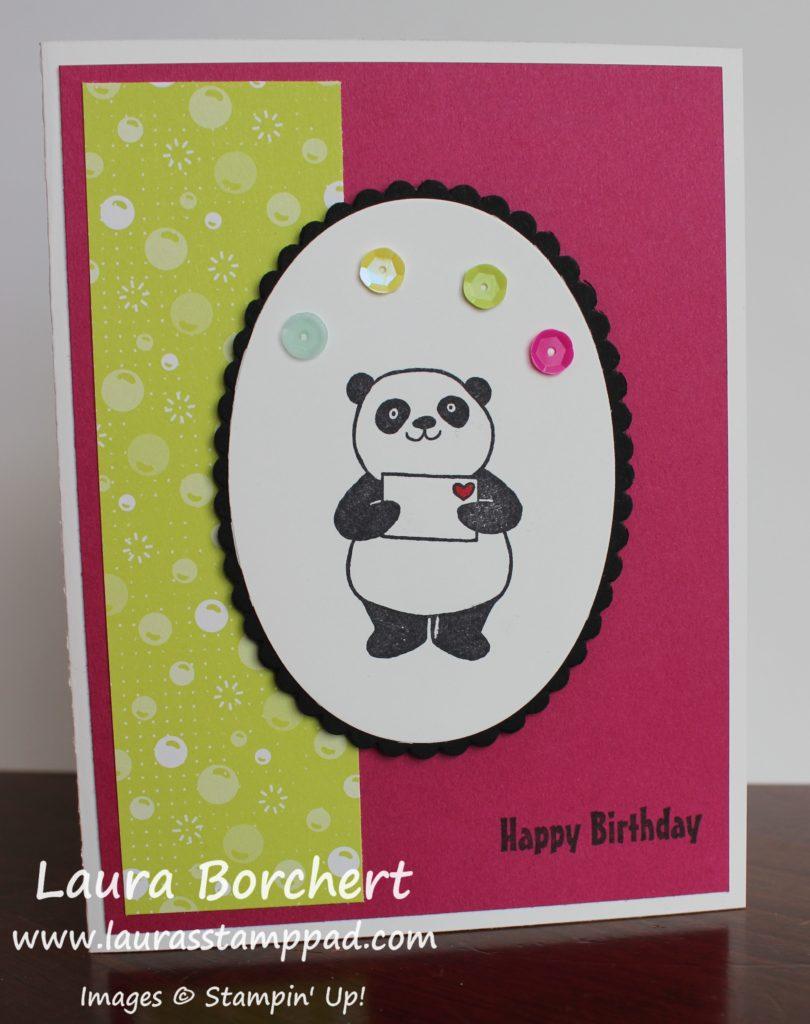 Birthday Love Panda, www.LaurasStampPad.com