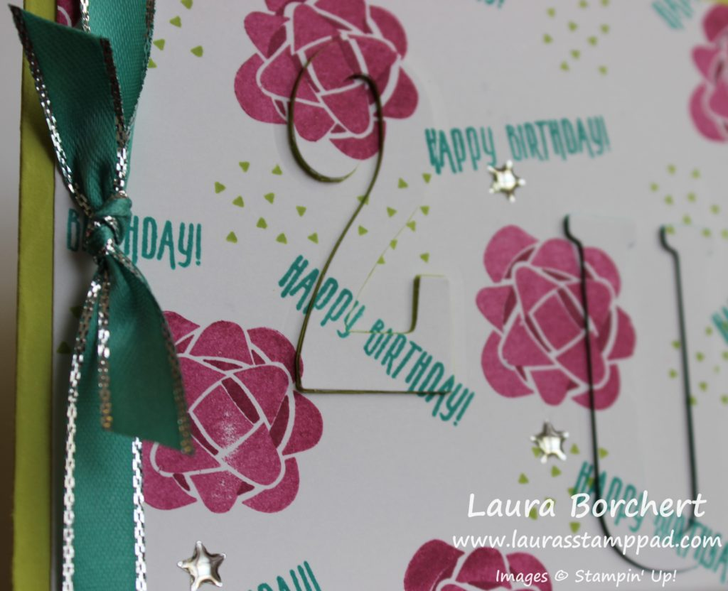 Blends Colored Ribbon, www.LaurasStampPad.com