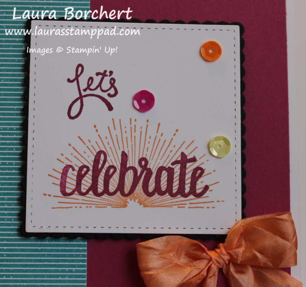 Celebrate with Sequins, www.LaurasStampPad.com