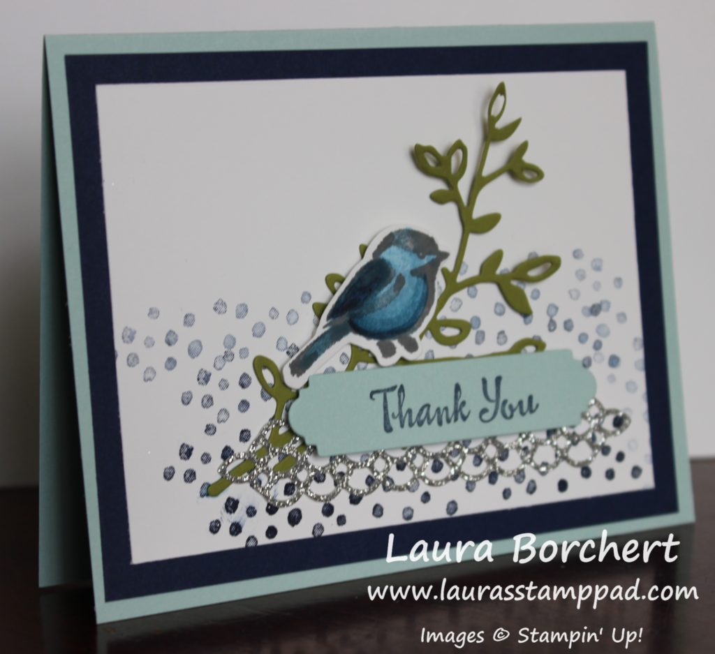 Little Blue Bird, www.LaurasStampPad.com