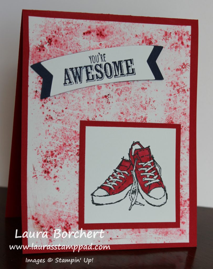 Red Converse Shoes, www.LaurasStampPad.com