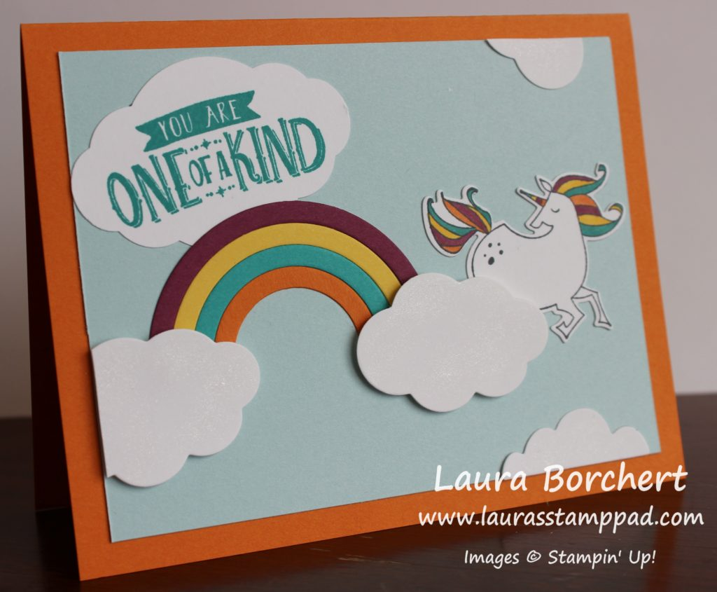 Unicorns & Rainbows, www.LaurasStampPad.com