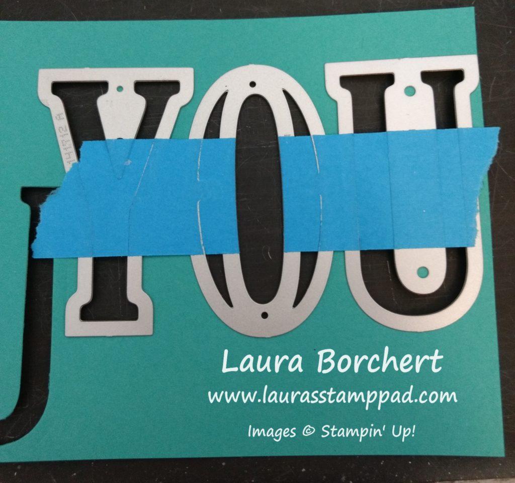 Large Letter Framelits, www.LaurasStampPad.com