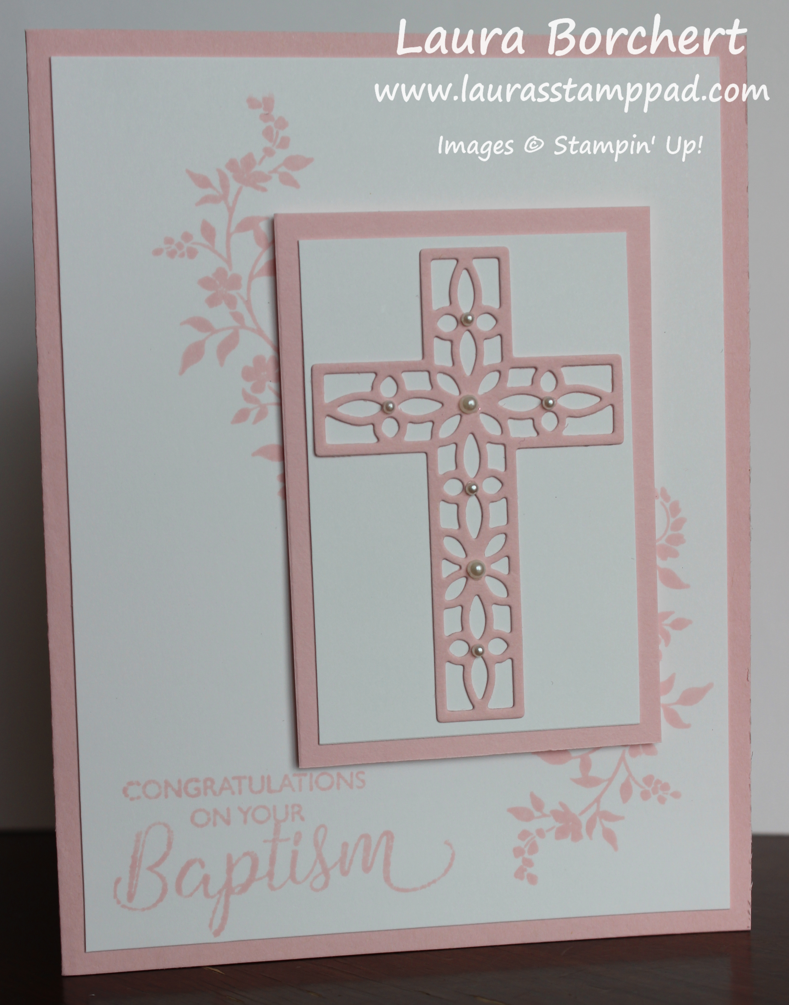 Lauras stamp pad laura borchert independent stampin up baptismal greeting card laurasstamppad kristyandbryce Gallery