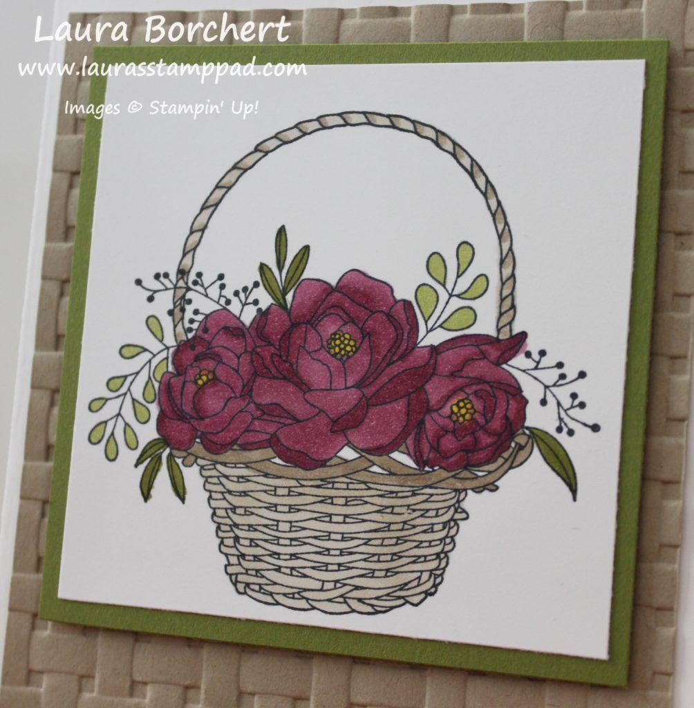 Blossoming Basket, www.LaurasStampPad.com