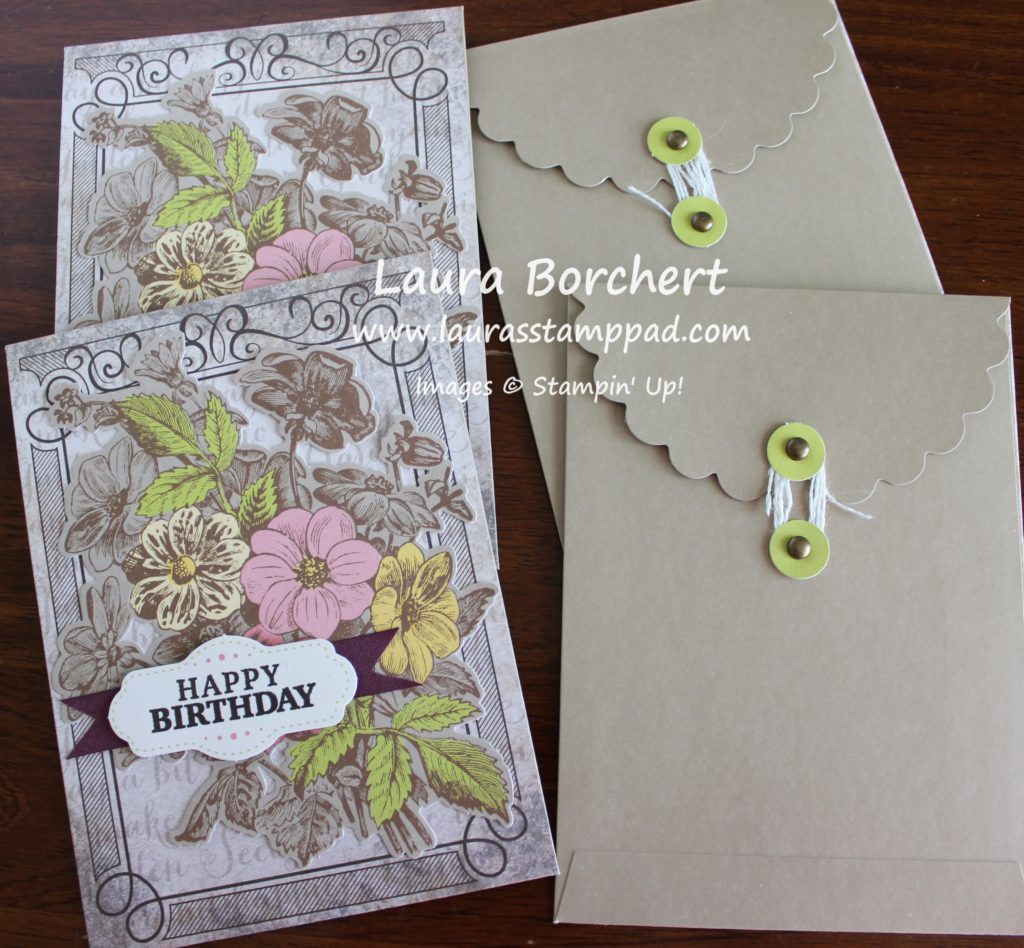 Birthday Envelopes, www.LaurasStampPad.com