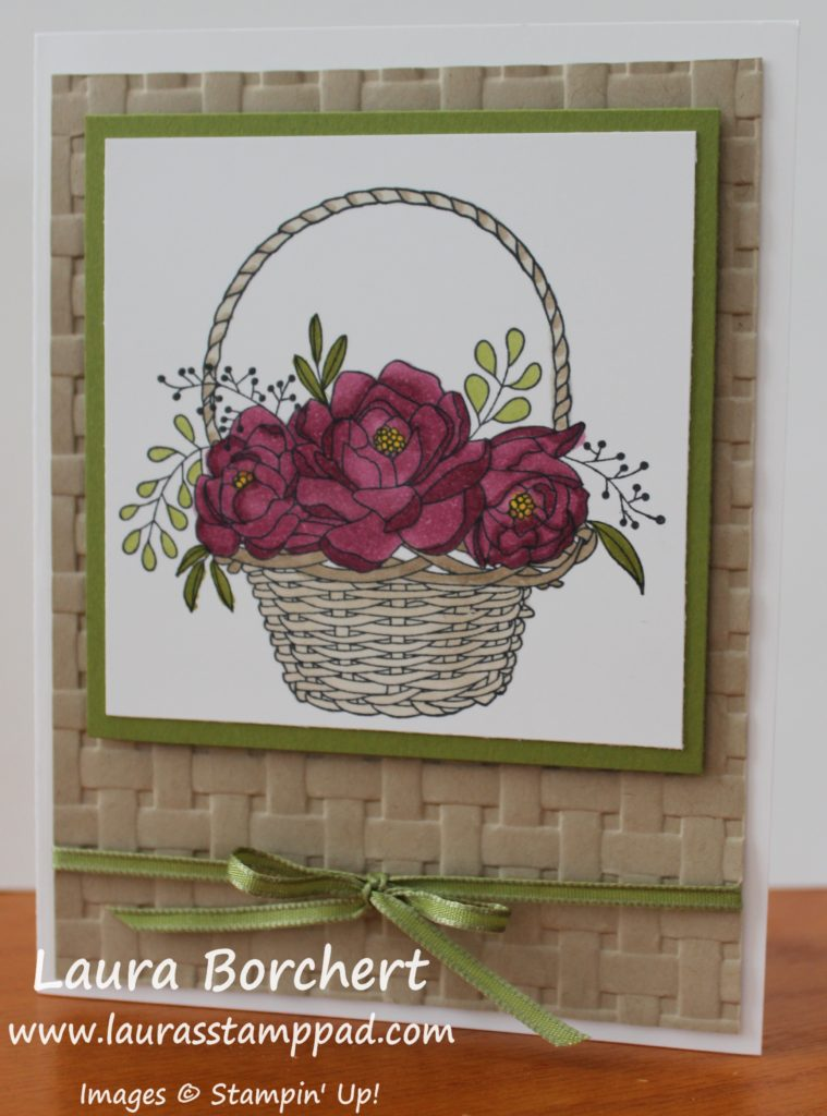 Basket Full of Flowers, www.LaurasStampPad.com