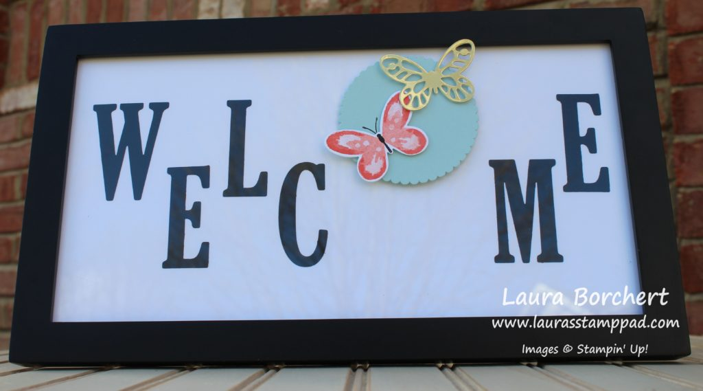 Welcome Home Decor Frame, www.LaurasStampPad.com