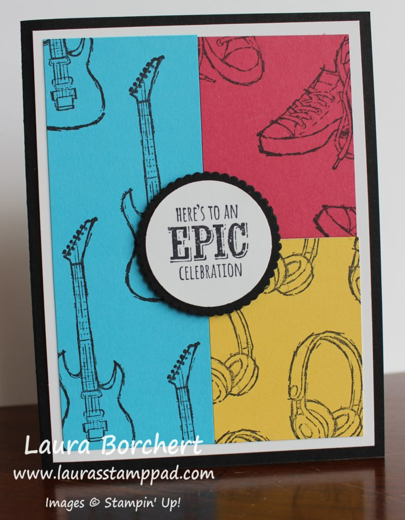 Here's To An Epic Celebration, www.LaurasStampPad.com