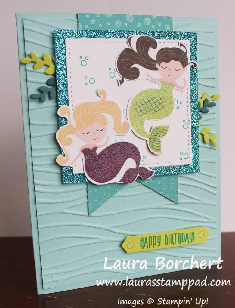 Mermaids Under The Sea, www.LaurasStampPad.com