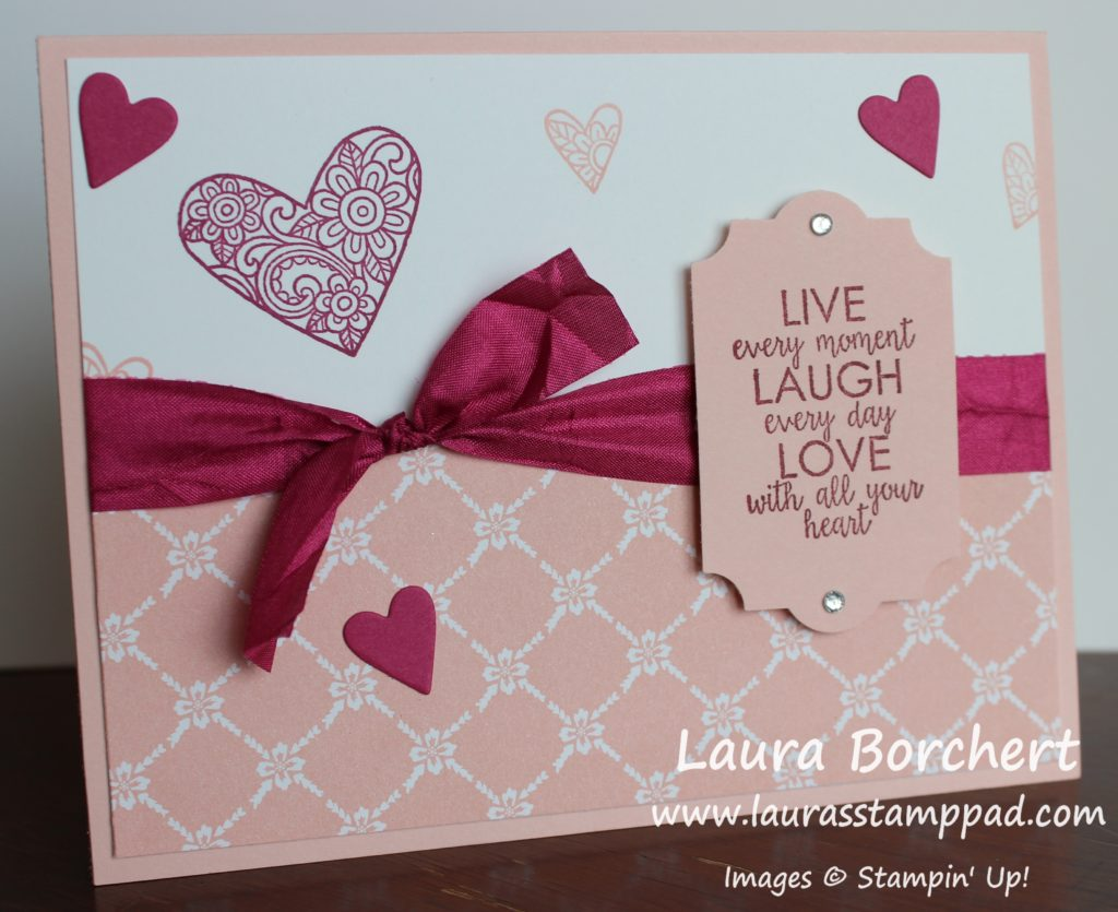 Love With All Your Heart, www.LaurasStampPad.com