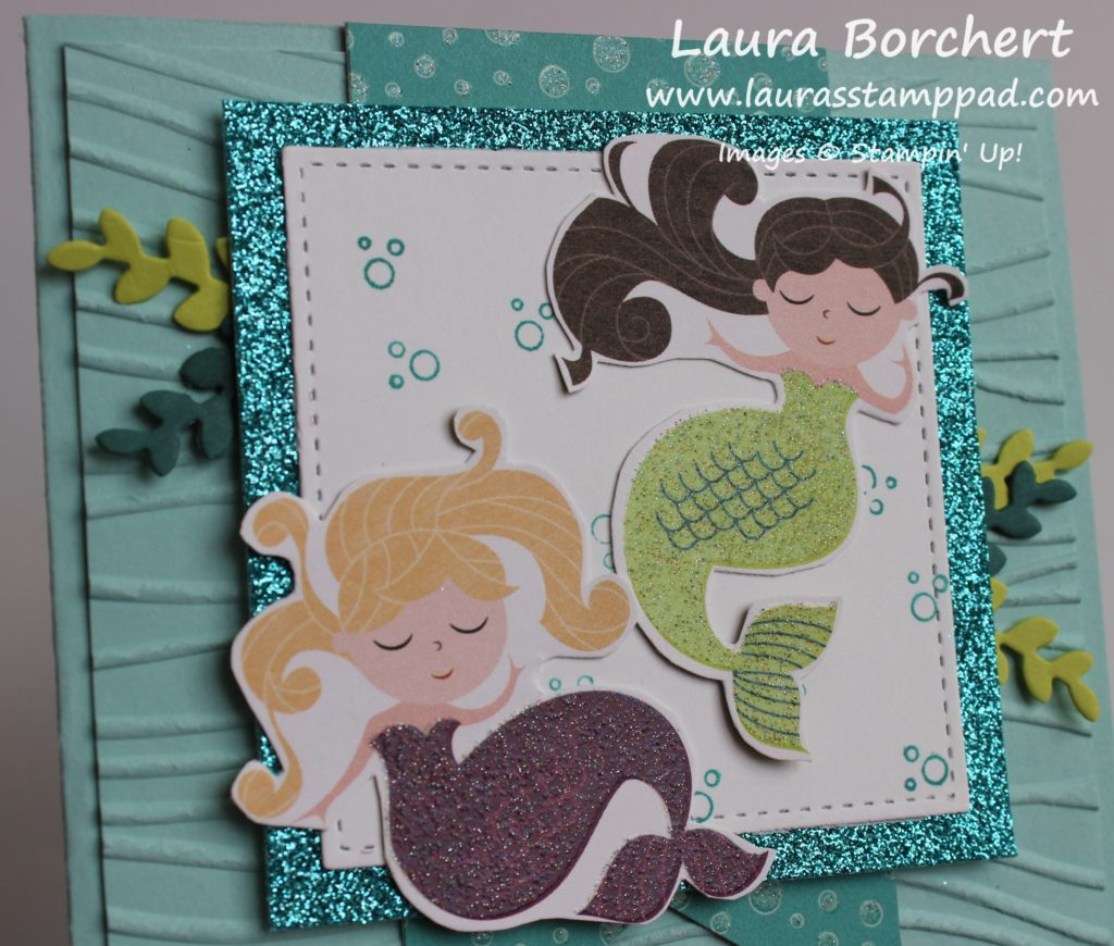 Swimming Mermaids, www.LaurasStampPad.com