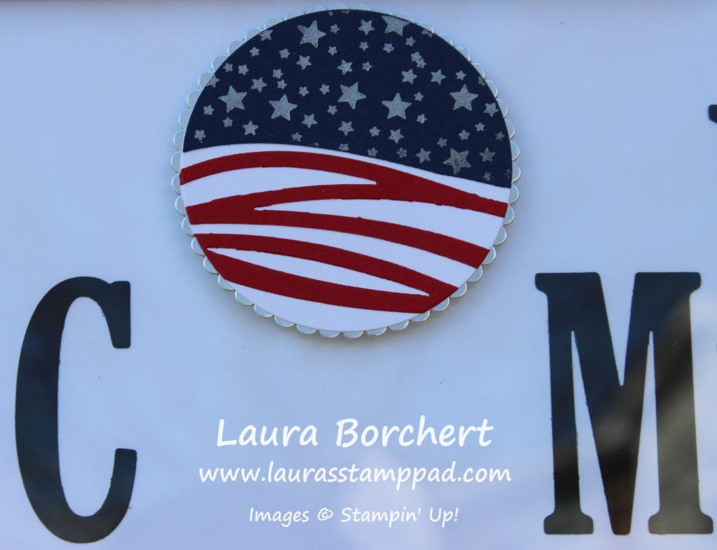 American Flag, www.LaurasStampPad.com