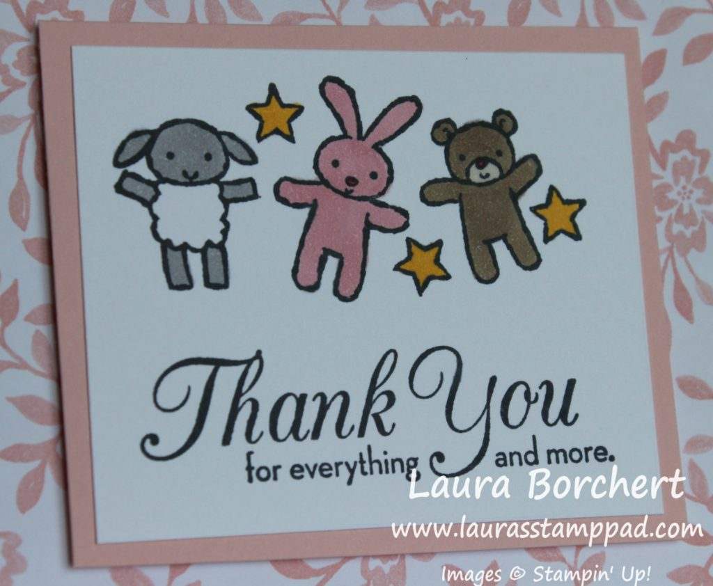 Baby Thank You Notes, www.LaurasStampPad.com
