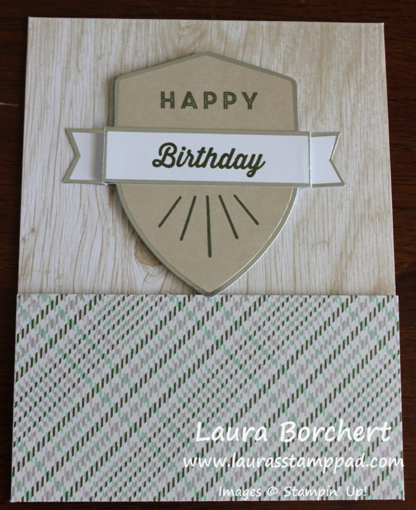 Birthday Badge, www.LaurasStampPad.com
