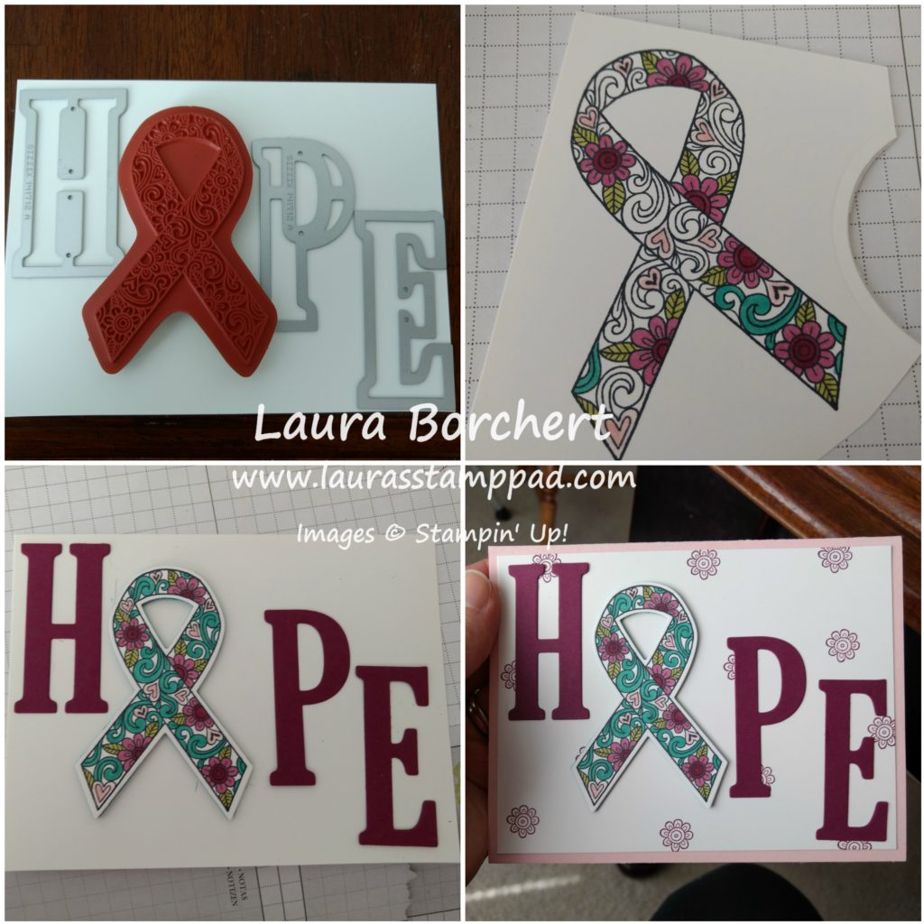 Ribbon of Hope, www.LaurasStampPad.com